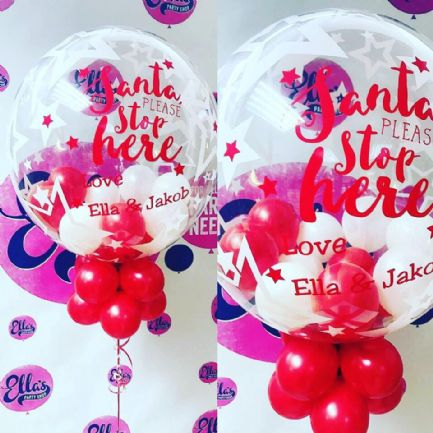 Xmas Eve Personalised Bubble Balloon